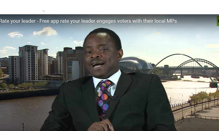 International television interview for Rate Your Leader founder